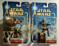 Attack Of The Clones Star Wars Action Figures Jedi Yoda & Plo Koon NEW Sealed Fr