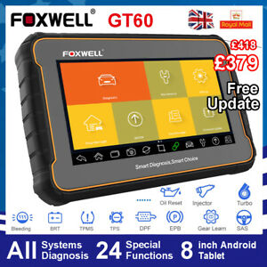 FOXWELL OBD2 Tablet Scanner Car All System Scan Diagnostic Tool 24 Reset Service