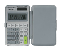 DUAL POWERED POCKET CALCULATOR SOLAR & BATTERY POWERED HOME OFFICE