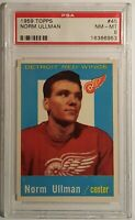 1959 Topps #45 Norm Ullman (HOF) PSA 8 NM-MT, Red Wings, Only 3 Higher, SMR $135