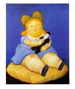 La Muneca by Fernando Botero Art Print 1999 Offset Lithograph Latin Poster 19x23