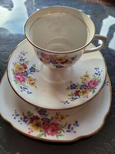 Vale bone china  tea cup, saucer & plate Trio