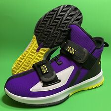Nike Lebron Soldier XIII SFG Voltage Lakers Purple Yellow AR4225-500 Size 10.5