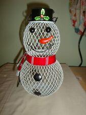 "New listing Bird Lovers Snowman Bird Feeder-Garden-Trees- 10 X 5 1/2- Chain is 9 1/2"" -(D)"