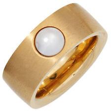 Modeschmuck-Ringe aus Edelstahl mit Perle für Damen