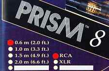 "Brand New Tara Labs ""Prism 8"" RCA Interconnect Audio Cables 0.6 meters 2ft"