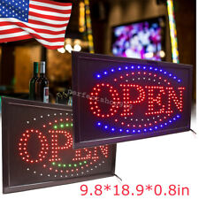 Bright Led Light Flash Motion Business Open Sign Chain Switch Bar Café Shop A+