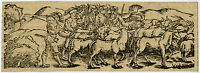 Antique Print-GENRE-CATTLE-SOLDIERS-WOODCUT-Anonymous-ca. 1550