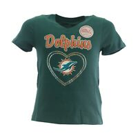 Miami Dolphins Official NFL Apparel Kids Youth Girls Size T-Shirt New Tags