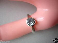 "925 Silber TC ""Krone"" Ring mit grünem Stein vermtl. Peridot 2,5 g / Gr. 53"