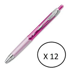 Uniball 207 Gel Pens, City Of Hope Breast Cancer Pink, 1 Box of 12 pens, Black