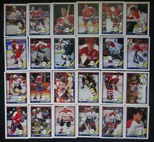 1991-92 Topps Washington Capitals Team Set of 24 Hockey Cards