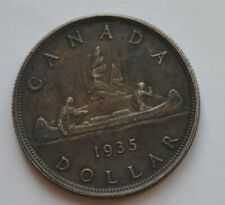 1935 Canada George V Silver One Dollar Tonned Coin