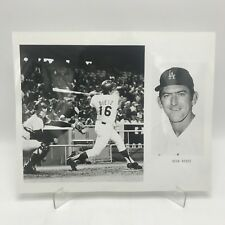 "DICK DIETZ - Los Angeles Dodgers Baseball - 2 Photographs on 8"" x 10"" Page"