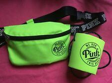New PINK Victorias Secret  Neon Green Koozie Loozie & Waist Fanny Pack Bag Purse