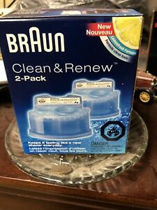 Braun Replacement Cleaner Clean & Renew Cartridge 2 Pack
