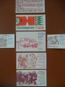 Christmas Booklets 1978,79,82,83,X843m x 2,Great Britain Machins cv£41.9o 2004.