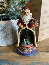 New Jim Shore Christmas Spirit Lives Within Santa Lighted Musical