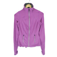 Lululemon Riding Jacket 2 Women's Purple Peplum Layered Back Thumb-Hole Full Zip