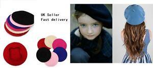 Kids Children Unisex Wool Warm Beret Beanie Hat Cap French Style Gift