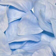 Light Blue Rose Petals Fabric Confetti (164 Petals)