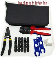 MC4 Solar Crimping Tools Solar Panel PV Cable Wire stripper Connectors Kit