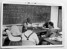 1968 Negro Men Playing Cards in Harlem NY Classroom Photo