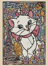 Counted Cross Stitch ARISTOCATS Stained Glass - COMPLETE KIT #10-64 KIT
