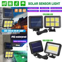 100/120COB LED Solar Power Wall Light Outdoor Garden Security Lamp Motion Sensor