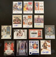 14x Basketball Auto Card Lot - Ntilikina Fast Break Prizm, Snell RC, Immaculate+