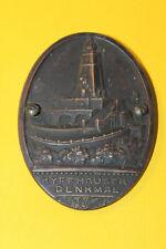 Voiture Plaque Kyffhäuser Monument 8,5x6,5cm Bronze à 1930 Ancienne Accessoire