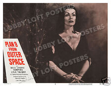 PLAN 9 FROM OUTER SPACE LOBBY SCENE CARD # 3 POSTER 1958 VAMPIRA ED WOOD