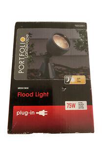 Portfolio 75-Watt (75 W Equivalent) Green Line Voltage Plug-in Halogen Flood