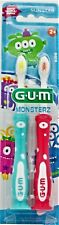 3pk GUM Kids Monsters Toothbrushes - Soft, colors may vary 2ct each