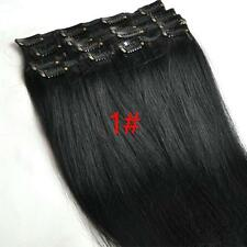 """Full Head Clip In/on Hair Extensions 100% Human Hair Remy Hair New Top Sell 15"""""""
