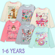 Girls Top Long Sleeve T-Shirt Birthday Present Gift I Am Age 1 2 3 4 5 6 Years