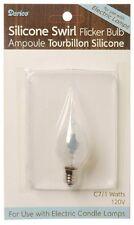 CANDLE BULB, Flickering, Silicone Swirl Covered Bulb 1 watt #6201-64
