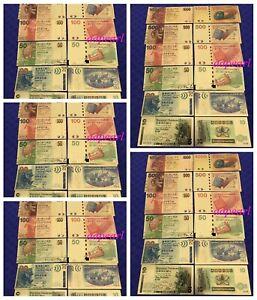 30pcs China Hong Kong Craft Banknote golden plastic Foil paper money 10-1000YUAN