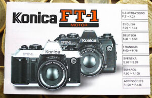 Konica FT-1 Motor Camera Instruction manual booklet - English & 4 more 125 Pages