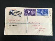 More details for gb 1946 peace registered fdc king st ec2 pmk(1176)
