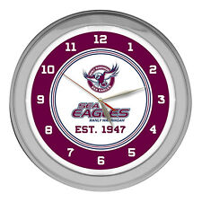 Manly Sea Eagles NRL GLASS NEON Clock Man Cave Bar Sign Christmas Birthday Gift