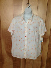 WOMEN'S ALFRED DUNNER WOMAN FLORAL BLOUSE-SIZE: 20W