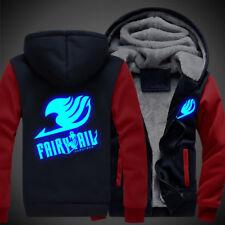 Fairy Tail Cosplay Unisex Winter Sweatshirts Thicken Hoodie Coat Luminous Jacket