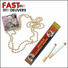 Long Pearl Necklace 2 Fake Cigarettes Beatnick Cigarette Holder 1920s Flapper