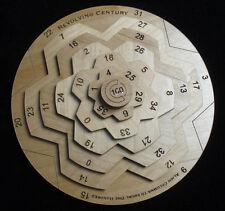 Revolving Century II brain teaser math puzzle. Precision crafed  - USA