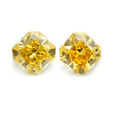 GIA Certs 0.32cttw MATCHED RADIANT diamonds NATURAL FANCY INTENSE ORANGE-YELLOW