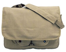 Vintage Military Khaki Messenger Paratrooper Bag School Travel College NWT