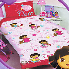 Dora the Explorer - Patches - Single/US Twin Bed Quilt Doona Duvet Cover Set