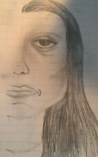 Crisco~ Woman with half a face. An original piece. Blessed... beautiful... gone