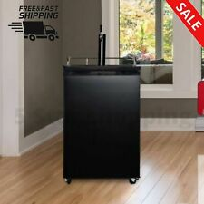 4.9 CUBIC FEET SINGLE TOP KEGERATOR Black Portable Home Hotel Party Beverages